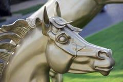 Cabeza del oro de un caballo Fotografía de archivo