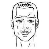 Cabeza del peinado del hombre Imágenes de archivo libres de regalías