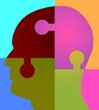 Cabeza del rompecabezas de la psicología Imágenes de archivo libres de regalías