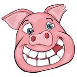 Cabeza del ` s del cerdo Clip art para los niños Fotografía de archivo