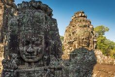 Cabeza del templo de Bayon, Siem Reap, Camboya Foto de archivo