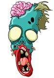 Cabeza del zombi Imagenes de archivo