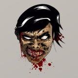 Cabeza del zombi Fotografía de archivo