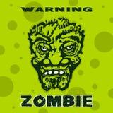 Cabeza del zombi una imagen estilizada Imagen de archivo libre de regalías