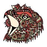 Cabeza dibujada mano del águila del color Fotos de archivo libres de regalías