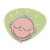Cabeza divertida del bebé de la historieta Foto de archivo libre de regalías