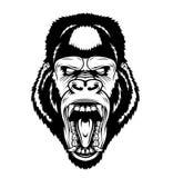 Cabeza enojada del gorila libre illustration