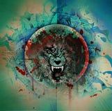 Cabeza enojada del lobo Imagenes de archivo