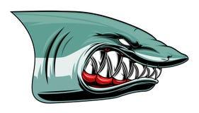 Cabeza enojada del tiburón coloreada Foto de archivo libre de regalías