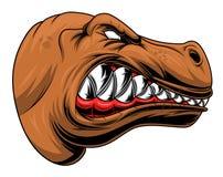 Cabeza enojada del tiranosaurio coloreada Fotos de archivo