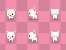 Cabeza grande Cat Walking Cartoon Vector stock de ilustración