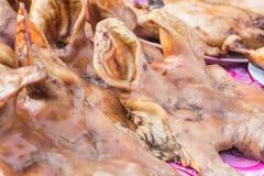 Cabeza hervida del cerdo Imagenes de archivo