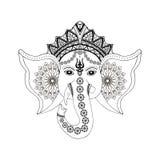 Cabeza hindú de Ganesha de dios Foto de archivo