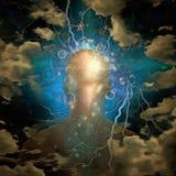 Cabeza humana y mente Imágenes de archivo libres de regalías