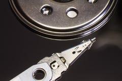 Cabeza leída de la unidad de disco duro Fotos de archivo