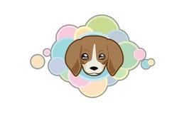 Cabeza linda del beagle del vector Imagen de archivo libre de regalías