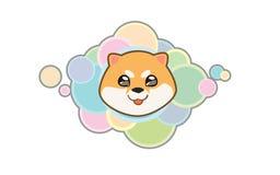 Cabeza linda del inu de Shiba del vector Fotos de archivo
