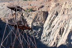 Cabeza-marco de la mina de cobre fotos de archivo