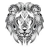 Cabeza modelada del león Imagen de archivo