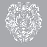 Cabeza modelada del león Diseño africano/del indio/del tótem/del tatuaje Puede ser utilizado para el diseño de una camiseta, de u Imagen de archivo libre de regalías