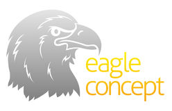 Cabeza orgullosa de las águilas Imagenes de archivo