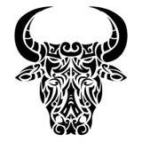 Cabeza ornamental del toro Fotos de archivo