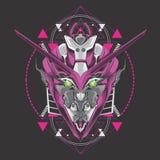 Cabeza púrpura del gundam libre illustration