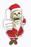 Cabeza Papá Noel del hueso ilustración del vector