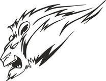 Cabeza potente del león Imagen de archivo