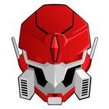 Cabeza roja del robot Imágenes de archivo libres de regalías