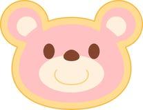 Cabeza rosada del oso Fotografía de archivo