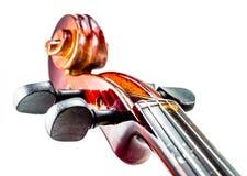 Cabeza Violine, cierre de la voluta del violín para arriba Fotografía de archivo