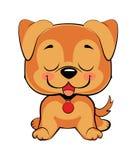 Cabeza y cara coloridas aisladas del labrador retriever feliz libre illustration