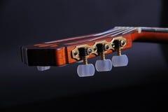 Cabezal clásico de la guitarra Imagenes de archivo