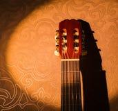 Cabezal de la guitarra Imagen de archivo libre de regalías
