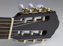 Cabezal de la guitarra acústica Fotografía de archivo libre de regalías
