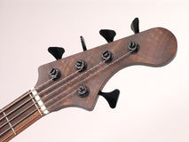 Cabezal de la guitarra baja fotos de archivo libres de regalías