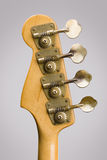 Cabezal de la guitarra baja Foto de archivo libre de regalías