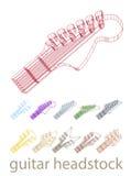 Cabezal de la guitarra de 3 D Fotografía de archivo libre de regalías