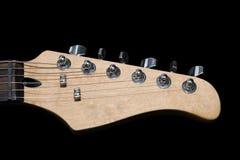 Cabezal de la guitarra eléctrica aislado en negro Fotografía de archivo libre de regalías