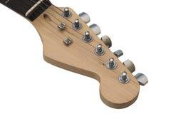 Cabezal de la guitarra eléctrica con el camino de recortes. Imagen de archivo