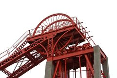 Cabezales de la mina de carbón. Imágenes de archivo libres de regalías