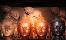 Cabezas de Buda Imágenes de archivo libres de regalías