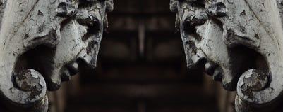 Cabezas de piedra Imagen de archivo libre de regalías