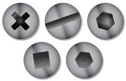 Cabezas de tornillo stock de ilustración