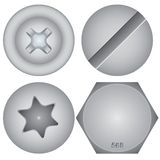 Cabezas de tornillo Imagen de archivo libre de regalías