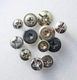 Cabezas de tornillo Foto de archivo libre de regalías