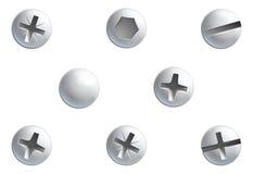 Cabezas de tornillo Imagen de archivo