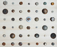 Cabezas de tornillos Imagen de archivo libre de regalías