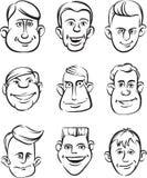 Cabezas excéntricas de la gente libre illustration